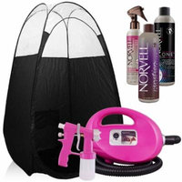 Pink Fascination FX Spray Tanning Kit with Norvell Tan Solution and Black Tent