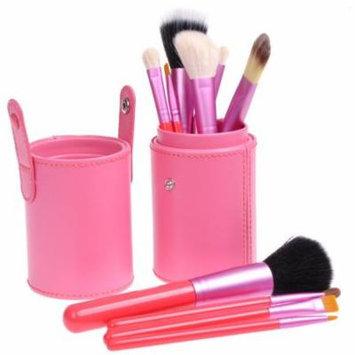 Pink Professional 12pcs Makeup Brush Set Cosmetic Tool Kit w/ PU Leather Holder