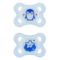 MAM Night Pacifiers 2+m silicone 2 Pack - Boy Colors