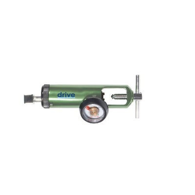 Drive Medical Oxygen Mini Regulators with Liter Adjustment and Various Connection Styles, Green, Adult