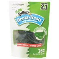 Dingo Denta-Treats Long-Lasting Mini Chews, 26-Pack, 10.09-Ounce