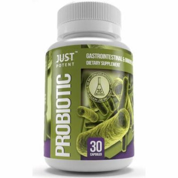 Just Potent Probiotic Supplement :: 35 Billion CFUs per Capsule :: 30 Capsules :: All-Natural and GMO Free