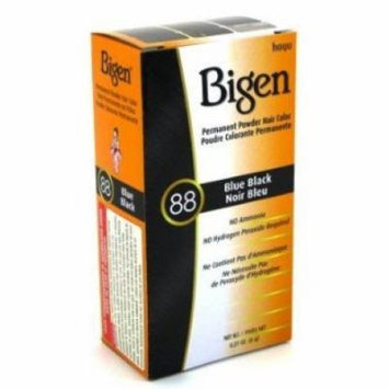 Bigen Powder Hair Color #88 Blue Black (3 Pack)