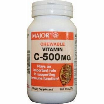 Vitamin C Supplement Major 500 mg Strength Chewable Tablet 100 per Bottle Orange - 1 Bottle