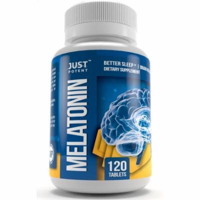 Just Potent High Grade Melatonin Supplement :: 10mg Tablets :: 120 Tablets :: Better Sleep :: Brain Health :: Non-Habit Forming