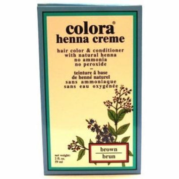 Colora Henna Creme Brown 2 oz. (3-Pack) with Free Nail File
