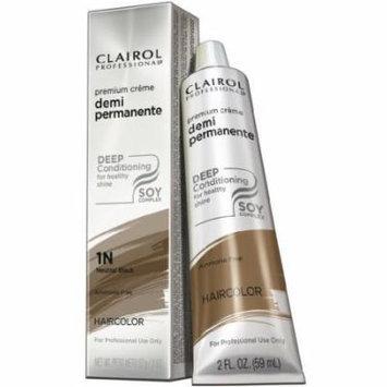 Clairol Premium Crème Demi Permanent Hair Color - #1N Neutral Black 2 oz. (Pack of 6)