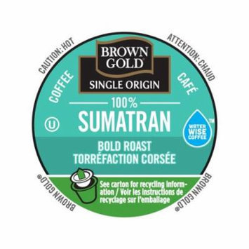 Brown Gold Coffee 100% Sumatran, RealCup Portion Pack For Keurig Brewers, 144 Count