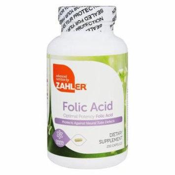 Zahler - Folic Acid - 250 Capsules
