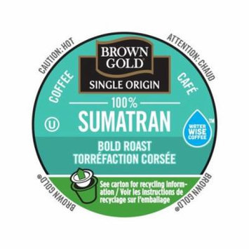 Brown Gold Coffee 100% Sumatran, RealCup portion pack for Keurig K-Cup Brewers, 24 Count