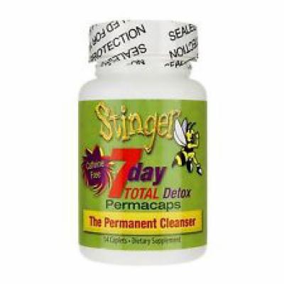 2 Bottles Stinger 7 Day Total Detox Perma Caps - 2/6 Panel Drug Tests include...