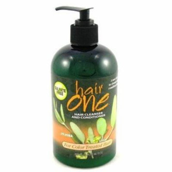 Hair One Hair Cleanser & Conditioner Jojoba for Colored Hair 12 oz. (Pack of 4)