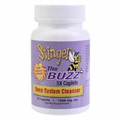 2 Bottles (5 Caplets each) Stinger The Buzz 5x Strength 1 Hour Total Detox W/...