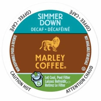Marley Coffee Simmer Down Decaf, RealCup portion pack for Keurig K-Cup Brewers, 24 Count