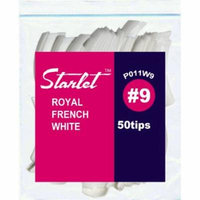 Starlet Royal French White #9 Nail Tips 50-Count