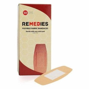 REMEDIES Adhesive Flexible Fabric Bandage, 2