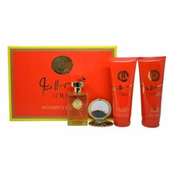 4 Pc Gift Set 3.4oz EDT Spray, 6.7oz Body Lotion, 6.7oz Shower Gel, Mirror
