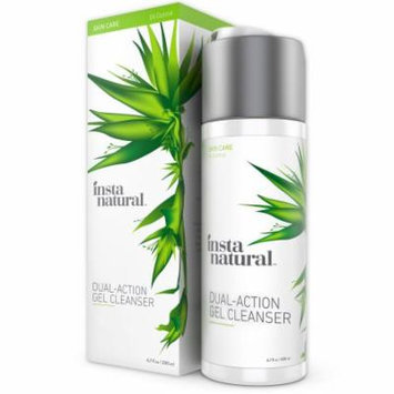 InstaNatural Dual Action Gel Cleanser - Deep Pore Cleansing Facewash - Simple Facial Makeup Remover - 6.7 fl oz