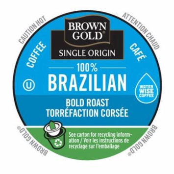 Brown Gold Coffee 100% Brazilian, RealCup Portion Pack For Keurig Brewers, 192 Count