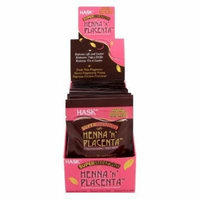 Hask Placenta & Henna Packettes 2 oz. (Pack of 12) Super Strength (Pack of 6)