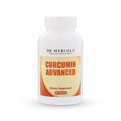 Dr. Mercola Curcumin Advanced - 90 Capsules - 500 mg MicroActive Curcumin Per Capsule - Sustained Release For Maximum Absorption