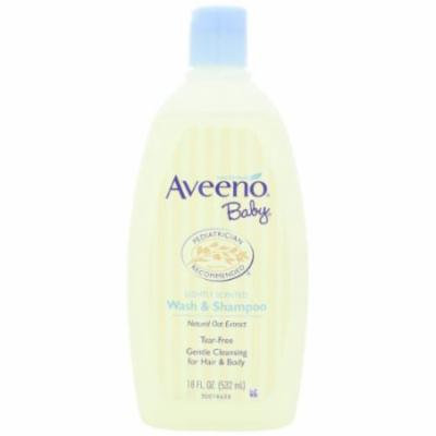 Aveeno Baby Wash & Shampoo with Natural Oat Extract 18-Ounce