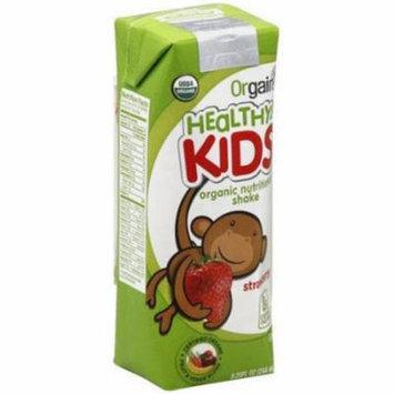 Orgain Healthy Kids Organic Strawberry Shake, 8.25 fl oz, (Pack of 12)