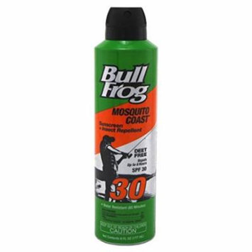Bull Frog Spf#30 Mosquito Coast Sunscreen & Insect Continuous Spray - 6oz (3 Pack)