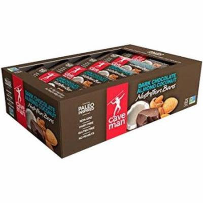 Caveman Chocolate Almond Coconut Nutrition Bar, 1.4 oz, (Pack of 12)