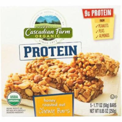 Cascadian Farm Honey Roasted Nut Chewy Bars, 5-1.77 oz, (Pack of 16)