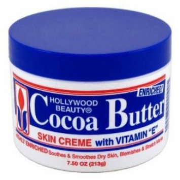 Hollywood Beauty Cocoa Butter with Vitamin-E 7.5 oz. (Case of 6)