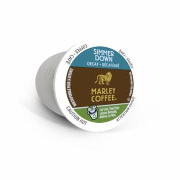 Marley Coffee Simmer Down Decaf, RealCup Portion Pack For Keurig Brewers, 96 Count