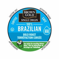 Brown Gold Coffee 100% Brazilian, RealCup Portion Pack For Keurig Brewers, 96 Count