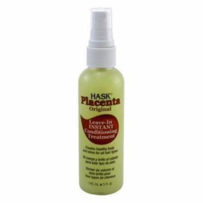 Hask Placenta No-Rinse Instant Hair Repair Treatment 5 oz (Pack of 6)