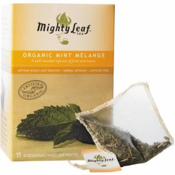 Mighty Leaf Tea Organic Mint Melange Tea, 15 count