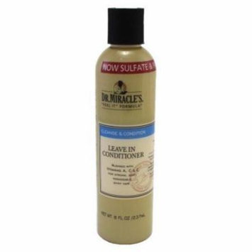 Dr. Miracles Cleanse & Condition Leave-In Conditioner 8 oz. (Pack of 6)