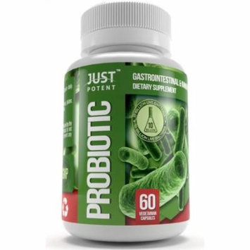 Just Potent Probiotic Supplement :: 10 Billion CFUs :: 8 Strains :: Shelf Stable :: Survives Stomach Acid :: 60 Vegetarian Capsules for 2 Months Supply