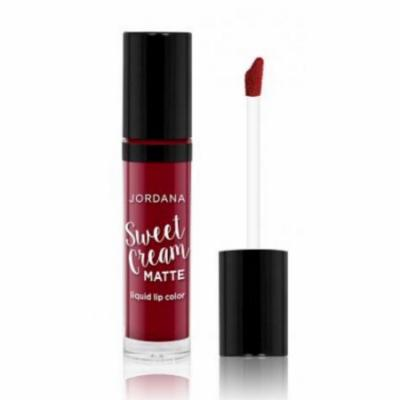 (6 Pack) JORDANA Sweet Cream Matte Liquid Lip Color - Red Velvet Cake