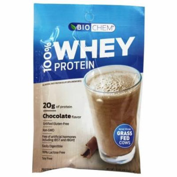BioChem by Country Life - 100% Whey Protein Powder Packet Chocolate Fudge - 1.1 oz.