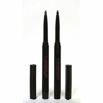 Kleancolor Retractable Waterproof Lip/Eyeliner Charcoal+Black #AP3