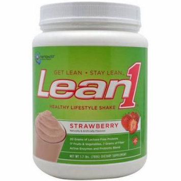 Nutrition53 Lean1 Strawberry Shake Mix, 2 lb, (Pack of 1)