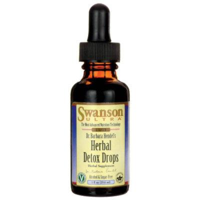 Swanson Dr. Barbara Hendel's Herbal Detox Drops 1 fl oz (29.6 ml) Liquid