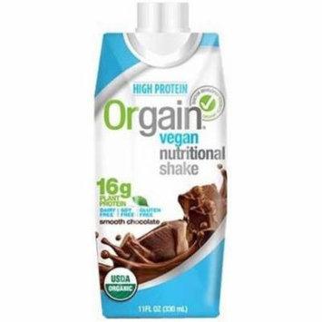 Orgain Smooth Chocolate Vegan Nutritional Shake, 11 fl oz, (Pack of 12)