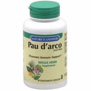 Nature's Answer Pau D'Arco Single Herb Supplement, 90 ct, (Pack of 1)