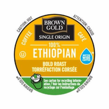 Brown Gold Coffee 100% Ethiopian, RealCup Portion Pack For Keurig Brewers, 144 Count