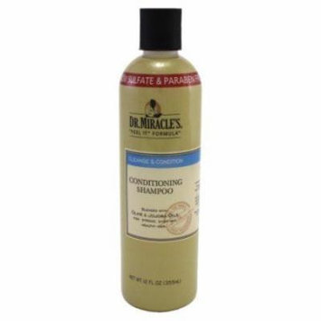 Dr. Miracles Cleanse & Condition Shampoo 12 oz. (Pack of 6)