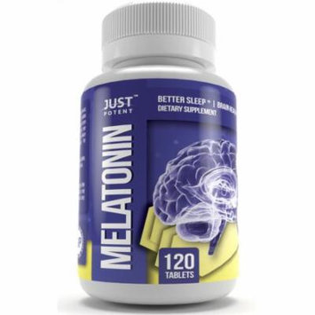 Just Potent High Grade Melatonin Supplement :: 5mg Tablets :: 120 Tablets :: Better Sleep :: Brain Health :: Non-Habit Forming