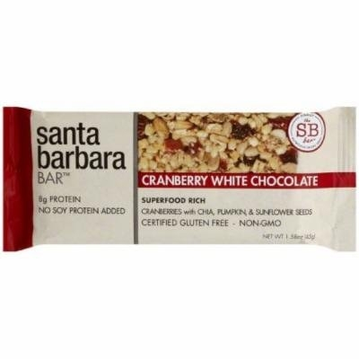Santa Barbara Cranberry White Chocolate Bar, 1.58 oz., (Pack of 12)