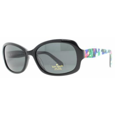 Kate Spade KS DARYA/S X74P Shiny Black/Floral Polarized Women's Sunglasses