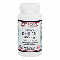 Protocol For Life Balance - Neptune Krill Oil 500 mg. - 60 Softgels